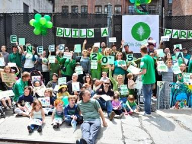 Supporters of the 20th Street Park project posed for a photo on Sun. May 1.