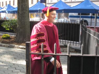 New Cooper Union president Jamshed Bharucha at his inauguration on Tues., Oct. 18, 2011.