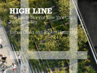 The cover of the new High Line book, which chronicles the development of the elevated park.
