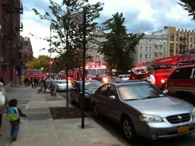 A fire in the 207th Street A train station in Inwood snarled traffic on Oct. 20, 2011.