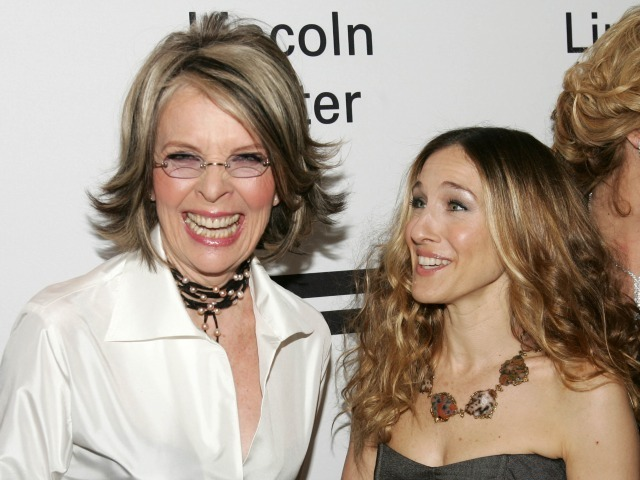 Actors Diane Keaton (L) and Sarah Jessica Parker attends the Film Society of Lincoln Center's Annual Gala Tribute to honor actress Diane Keaton at Avery Fisher Hall on April 9, 2007 in New York City.