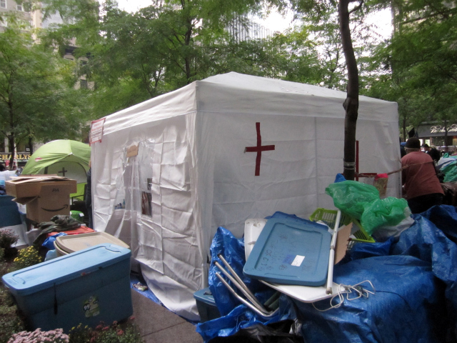 One of the two medical tents at Occupy Wall Street.