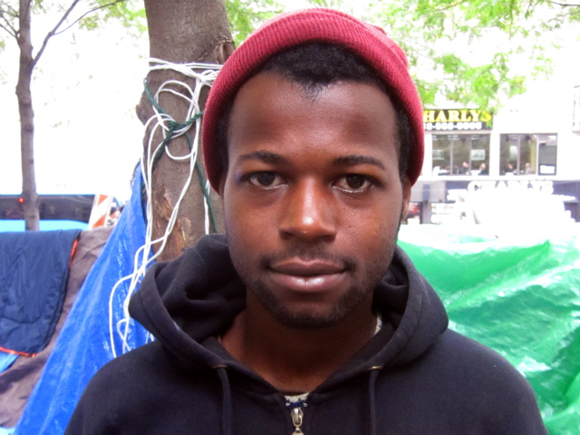 Blair Washington, 20, got relief from the pain of a deteriorating tooth at Occupy Wall Street's free medical tent.