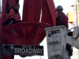 Canadian Scales Statue in Occupy Wall Street's Zuccotti Park Camp