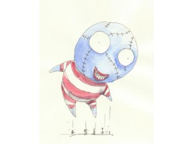 A sketch of the Tim Burton character B. Boy, which will be a float in the Macy's Thanksgiving Day parade on Nov. 24, 2011.
