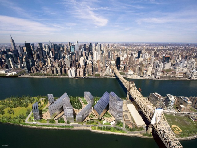 <p>A rendering of the Cornell/Technion proposed engineering and applied science campus for Roosevelt Island.</p>