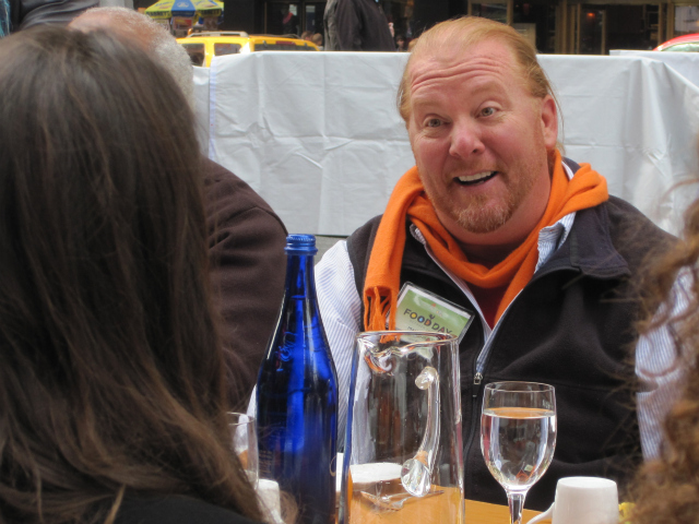 <p>Celebrity chef Mario Batali attended a lunch in Times Square.</p>