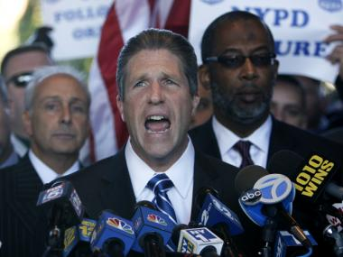 Patrolmen's Benevolent Association President Pat Lynch said the union is going to binding arbitration after being unable to reach a contract deal with the de Blasio administration.