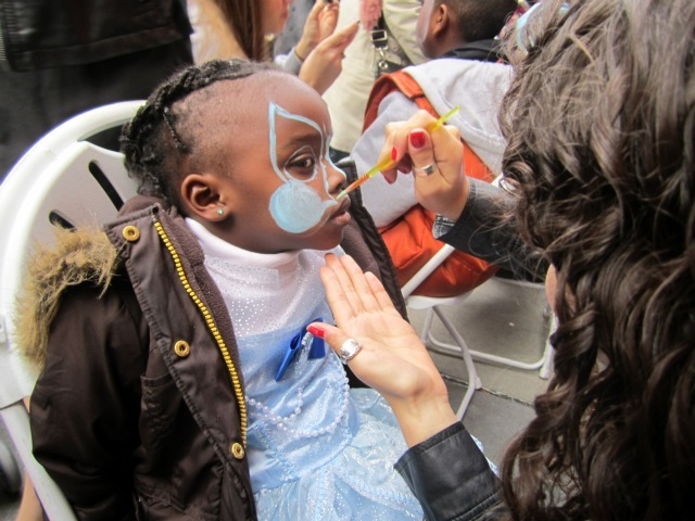 <p>Eniyah Hudgins, 3, got her face painted at the 21st Annual Children&#39;s Halloween Parade in the Village.</p>