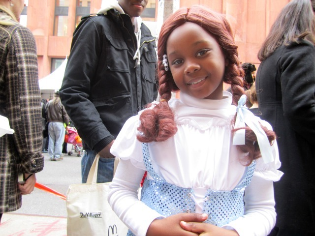 <p>Shaylin Kearse, 7, from the Bronx, was inspired to dress as Dorothy after reading &quot;The Wizard of Oz.&quot;</p>