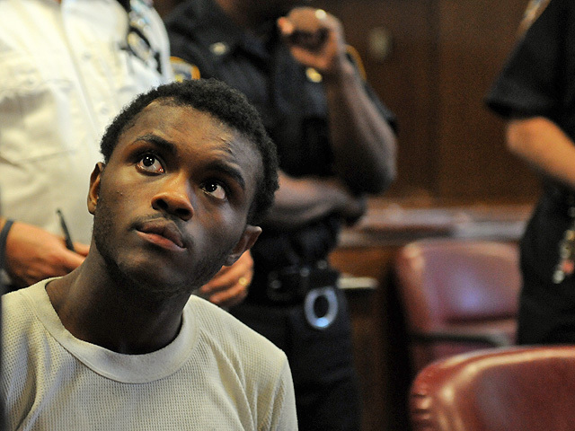 Kemmeth Ludovic, 17, an alleged member of Harlem's Goodfellas gang at his arraignment on Nov. 4, 2011.