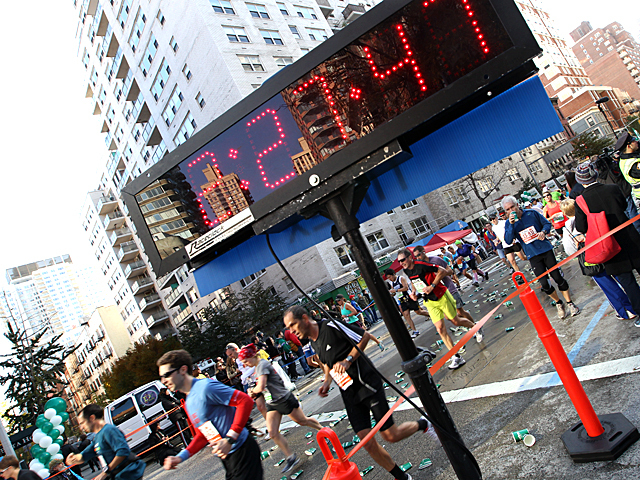 <p>Times flies during the 2011 New York City Marathon.</p>