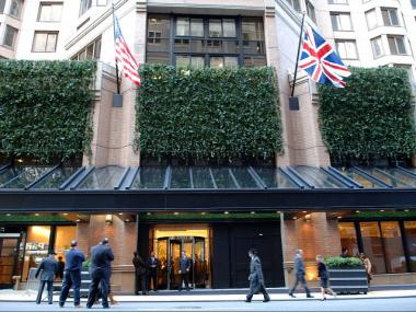 The London Hotel on West 54th Street.