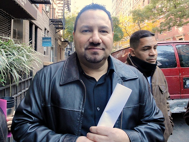 Jose Rivera, 47, was given just six days to vacate his home of 22 years at 221 W. 16th St. in Chelsea. He took part in a rally there on Nov. 6, 2011.
