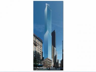 Harry Gross' new 67-story Marriott hotel is rising at the corner of Broadway and West 54th Street. It promises to be the tallest in the city.