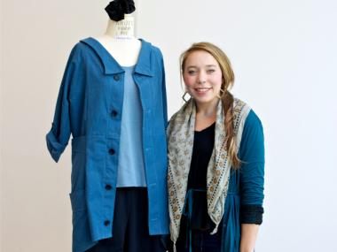 Pratt Institute student Hannah Ross was awarded a $2,500 scholarship and the opportunity to have her design produced and worn by the nursing staff at Haven Hospice Specialty Unit.