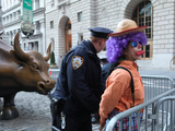 Prank Clowns and Matador 'Fight' Wall Street Bull