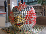 Lady Gaga's Shoe and Angry Birds Take Shape With Canned Food