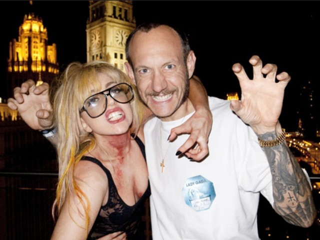 A photo of Lady Gaga and photographer Terry Richardson from their new book.