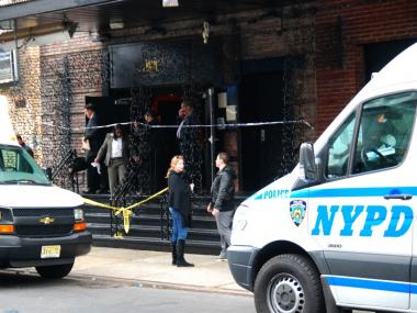Police investigate a shooting at the Juliet Supperclub at 539. W. 21st St. on Nov. 15, 2011.