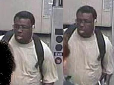 This is a man wanted for sexually assault a woman as she boarded the M train at the Broadway-Lafayette Street station on Nov. 10, 2011.