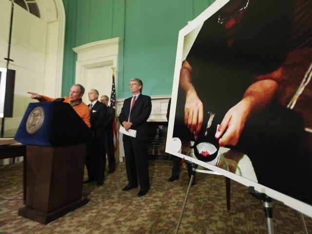 Mayor Michael Bloomberg, Police Commissioner Ray Kelly and Manhattan District Attorney Cyrus Vance Jr. attend a City Hall news conference about alleged