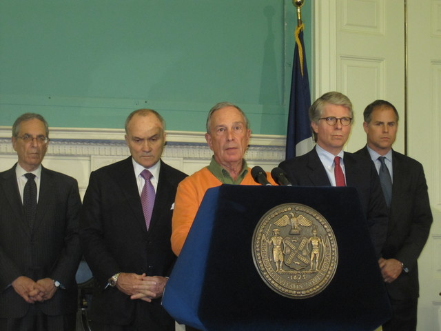Mayor Michael Bloomberg, Police Commissioner Ray Kelly and Manhattan D.A. Cyrus Vance announced the arrest Sunday.
