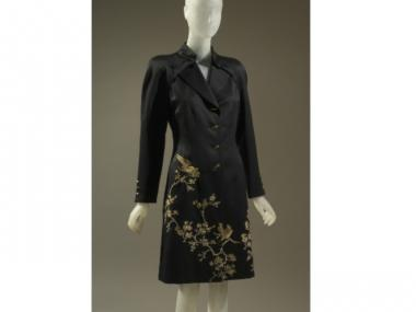 This coatdress by Alexander McQueen, from his time at Givenchy in the 1990s, will be on display at the Museum at FIT.
