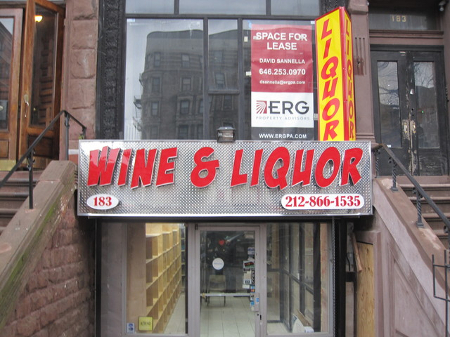 The signage of the liquor store at 119th Street and Lenox Avenue does not fit with the character of the Mount Morris Park historic district, say some area residents.