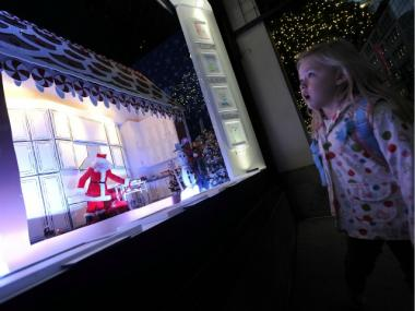Exterior view of the 2011 Holiday Windows at Lord & Taylor.