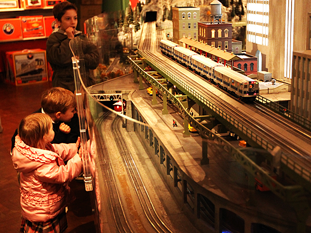 Children enjoy the Holiday Train Show at Grand Central Terminal over the Thanksgiving weekend, 2011.