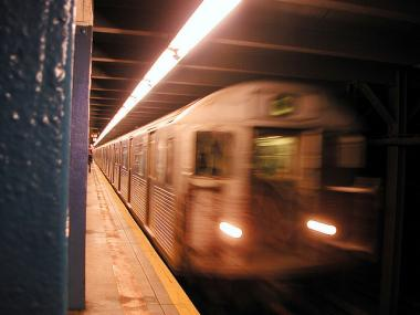 A man was killed after jumping onto the C train tracks at 155th Street in Harlem Mon., Nov. 28, 2011, police said.