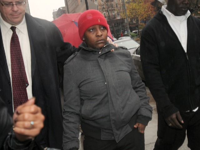 Denise Darbeau, who was beaten by McDonald's employee Rayon McIntosh on Oct. 13, 2011 appeared in Manhattan Criminal Court on Nov. 29, 2011 on criminal trespass charges.