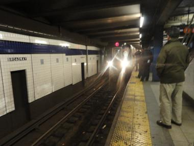A man was struck and killed by a train at the West 231st Street on Broadway on Nov. 22, 2012.