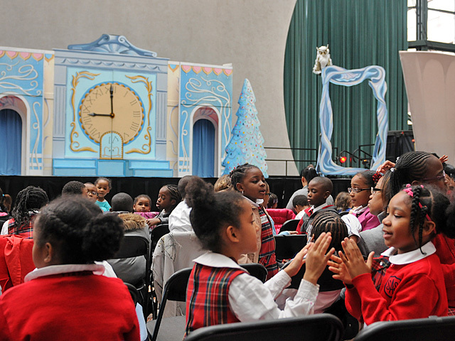 Students from St. Aloysius School in Harlem came down to the World Financial Center for a performance of The Nutcracker on Nov. 29, 2011.