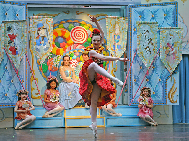 Dancers from the New York Theatre Ballet perform The Nutcracker at the Winter Garden atrium in the World Financial Center on Nov. 29, 2011.
