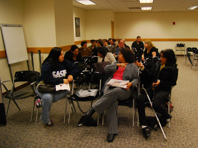 <p>P.S. 111 parents at a meeting on Nov. 29, 2011.</p>
