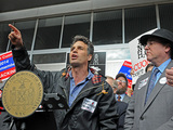 Mark Ruffalo Joins Rally Against Hydrofracking at BMCC