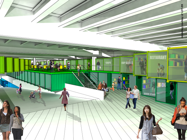 <p>A rendering of the new marketplace at Pier 57, which could open as soon as 2015.</p>