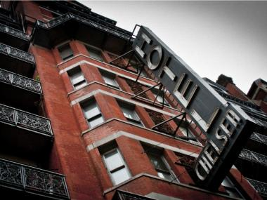 The Hotel Chelsea on West 23rd Street.