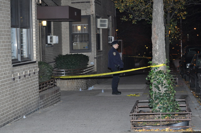 Two men were shot outside 120 W. 94th St. late Sun., Dec. 4, 2011.
