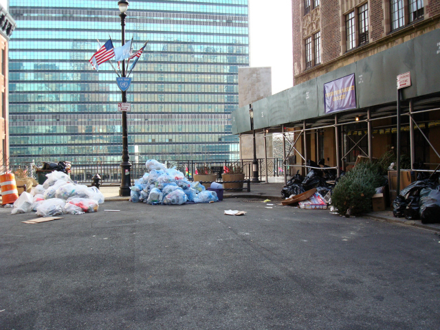 The cul-de-sac at the end of East 43rd Street is a dumping ground for garbage from nearby buildings, Thompson said.