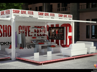 Mock-up of DKNY pop-up shop