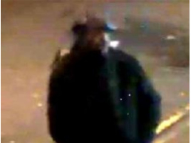 A surveillance photo of a suspect in a Nov. 12 mugging