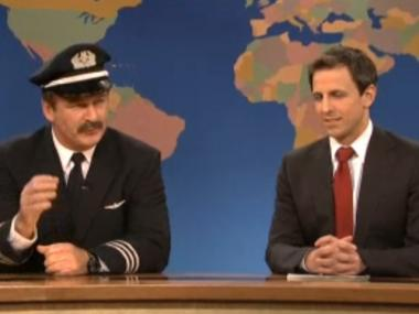 "Alec Baldwin plays Capt. Steve Rogers on ""Saturday Night Live"" on Dec. 11, 2011."