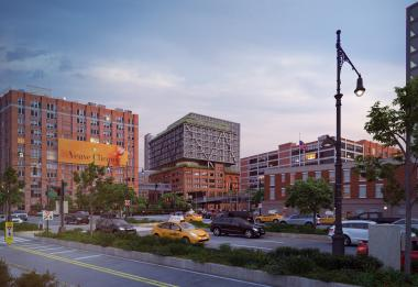 A rendering of what the expanded Chelsea Market will look like from the southwest.