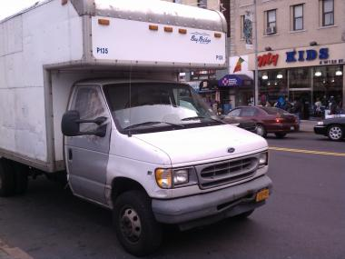 A boy bicyclist was killed when he collided with a truck in Harlem.