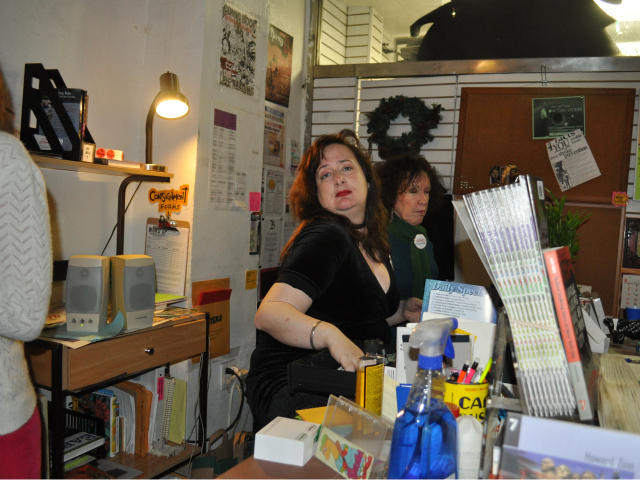 Washington Heights resident Susan Hannigan volunteered to help at the bookstore's