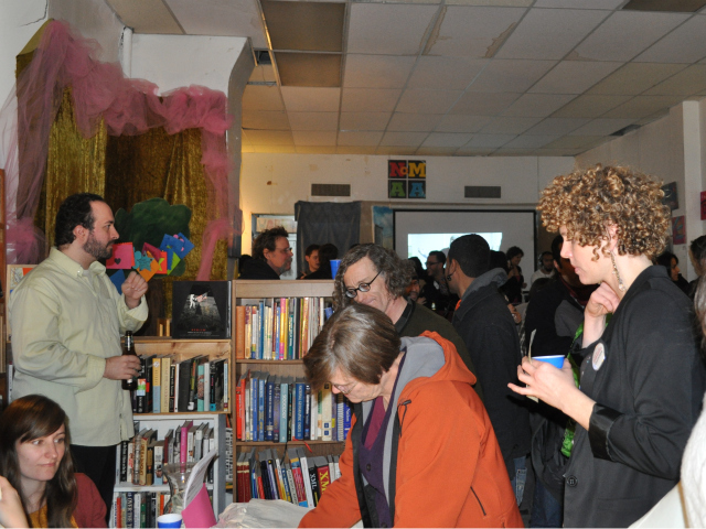 A large crowd gathered at Word Up on Saturday, Dec. 17.