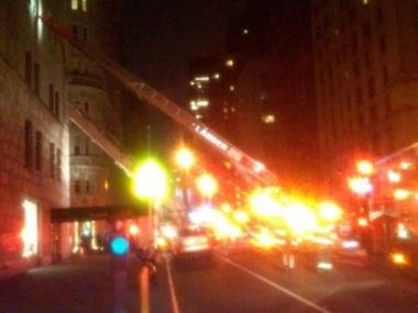 A fire broke out in the New York Athletic Club, at 180 Central Park South on